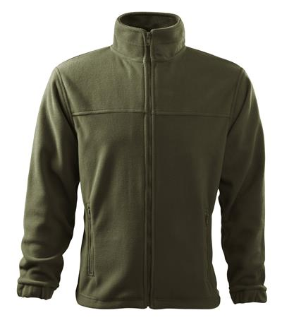 JACKET fleece bunda pánska MILITARY S-2XL, 100% polyester, antipilingová úprava, 280 g/m2